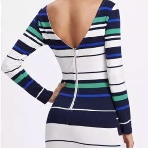 Dresses & Skirts - Exposed Zip V Back Striped Dress Women